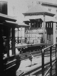 Arrivée d'un train à Battery Place