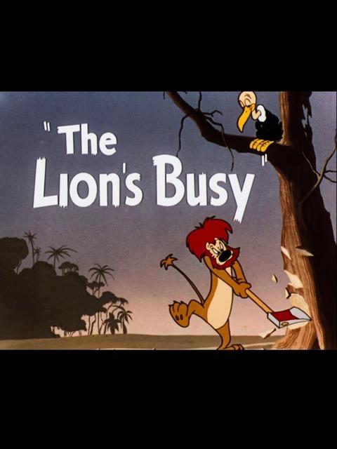 Le lion est occupé