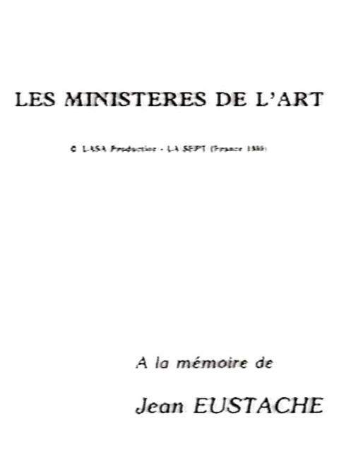 Les ministères de l'art