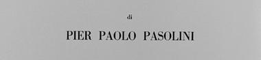 Une filmographie : Pasolini [Top]